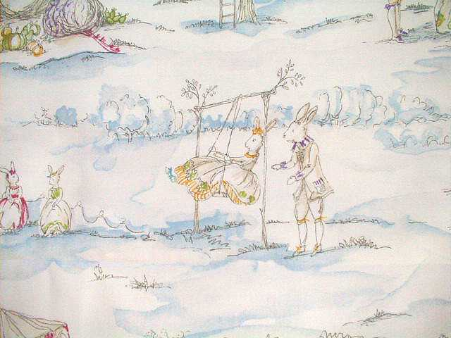 P Kaufmann Cottontail BUNNY Kids Decorator Toile Fabric