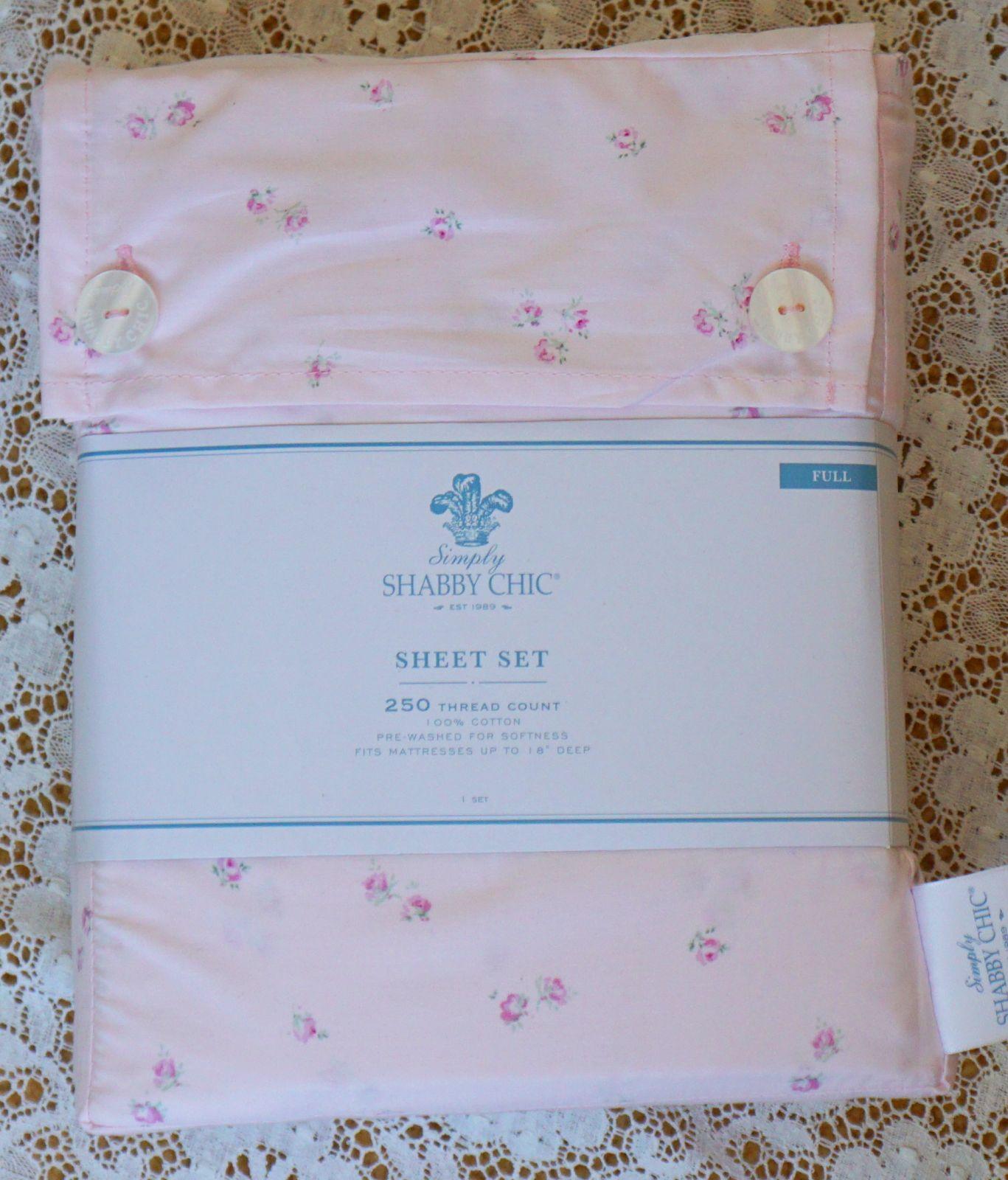 new rachel ashwell shabby chic sheets double full 250 thread floral rh ebay com shabby chic bed sheets shabby chic crib sheets