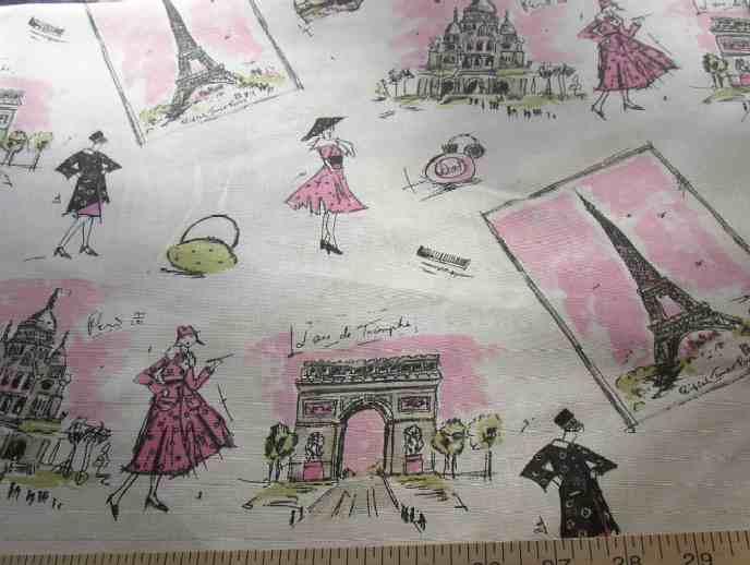Remnant Waverly Tres Chic Paris Eiffeltoile Fabric Ebay